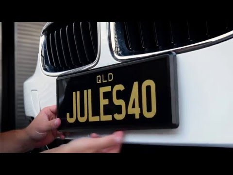 Personalised Plates Queensland: How to attach Prestige Plates