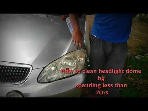 How clean the car HEADLIGHT glass (Tamil)