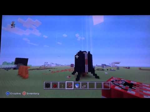 How to make a working rocket ship in minecraft