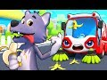 Street Sweeper And Big Bad Wolf Cars For Kids Monster Truck Kids Songs Kids Cartoon BabyBus