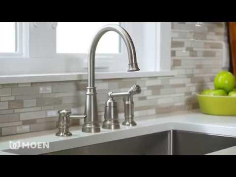 Edison One Handle High Arc Kitchen Faucet