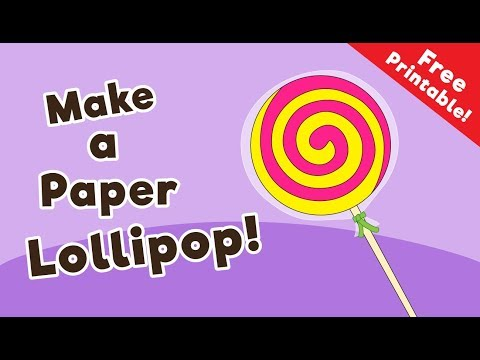 Paper Lollipop Craft