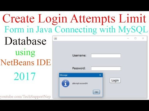 How to Create Login Attempts Limit Form in Java Using NetBeans IDE and MySQL?[With Source Code]