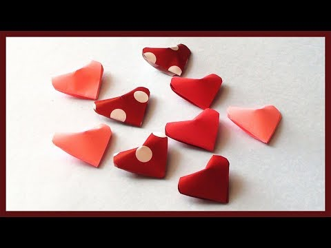 DIY Little Paper Hearts Gift Idea for Valentine Day