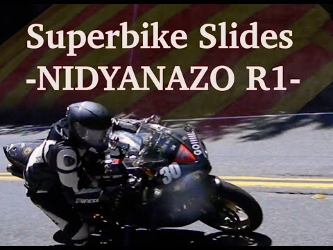 SUPERBIKE SLIDES![Backing it in & Powersliding+laying' rubber@100MPH++on the street] NIDYANAZO R1