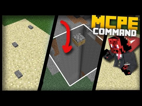 3 Easy & Cool Traps You can Make in MCPE with Command Blocks! (Mines, Quicksand & Pits)