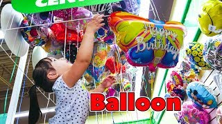 Getting a Butterfly Balloon and a Gumball - Kids children Toddlers Fun shopping at dollar Tree