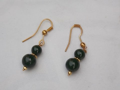 Fashion jewelry making how to make hooked earings