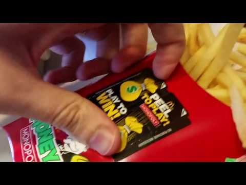 McDonalds Money Monopoly Peeling Pieces