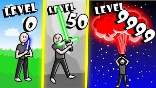 Download GETTING HIGHEST LIGHTSABER LEVEL POSSIBLE? // Roblox Saber Simulator Video