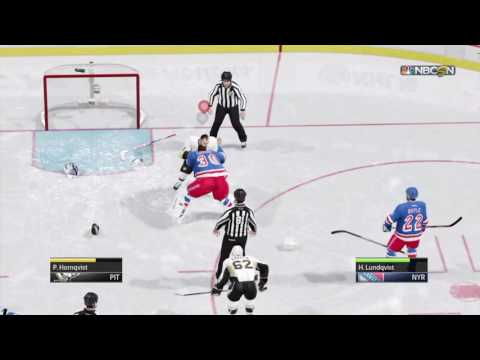 Goalie vs Player Fight NHL 16 (Gone Wrong)