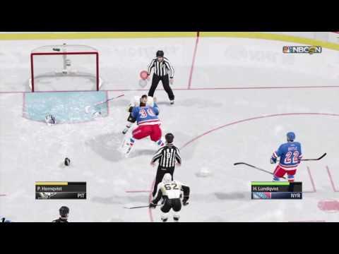 Goalie vs Player Fight NHL 16 (Gone Wrong)