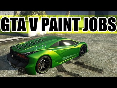 GTA Car Paint Jobs! [ Lemon & Lime Green - Deep Space Pruple ]
