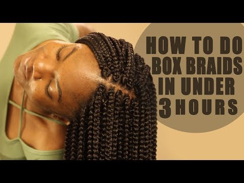 How to Crochet Box Braids On Yourself Tutorial: LOOKS REAL! FAST!