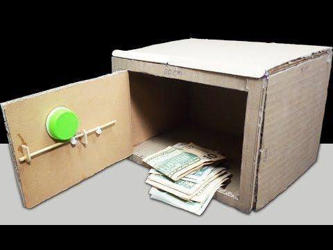 How to make a Safe Locker at Home   DIY mini Piggy Bank