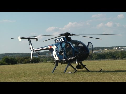 Hungarian Air Police MD500E startup and takeoff