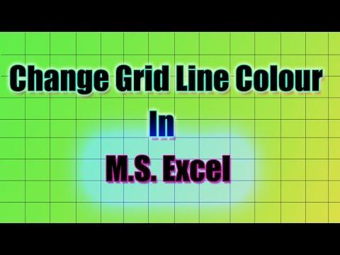 Change Grid Line Colour in MS Excel