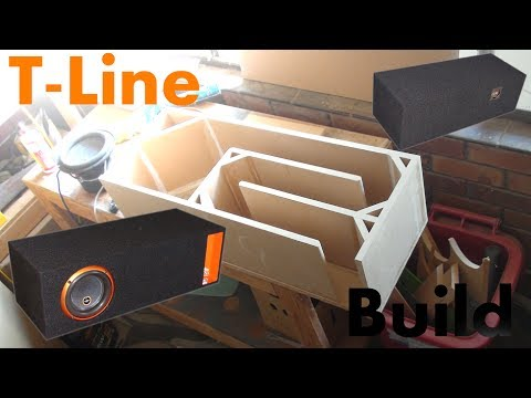 T-Line Time - Subwoofer Box Build For Cadence S2W8