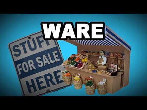 Learn English Words: WARE - Meaning, Useful Vocabulary with Pictures and Examples