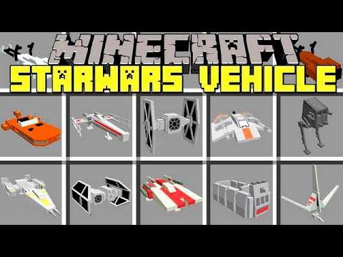 Minecraft STARWARS VEHICLES MOD l BUILD INSTANT STAR WARS VEHICLES! l Modded Mini-Game