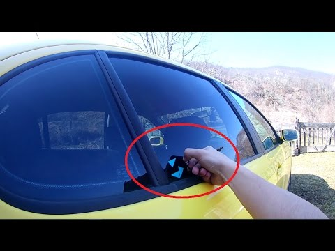 POV DIY - How To Remove Sticker From Car Window .