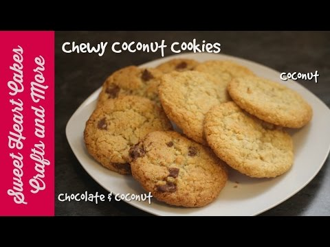 Easy Chewy Coconut Cookies - Super Easy Recipe Tutorial