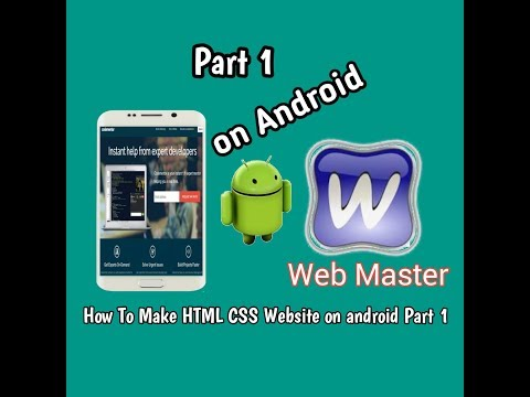 How To make HTML CSS website on android part 1