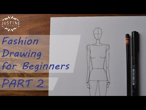 How to draw: a woman body / fashion figure | Fashion drawing for beginners #2 | Justine Leconte