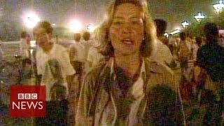 Archive: Chinese troops fire on protesters in Tiananmen Square - BBC News