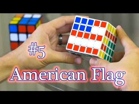 3x3 & 5x5 Rubik's Cube: Design Series #6 [American Flag]