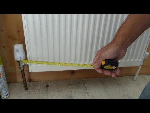 How to correctly measure a radiator for replacement