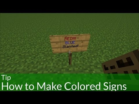 Tip: How to Make Colored Signs in Minecraft