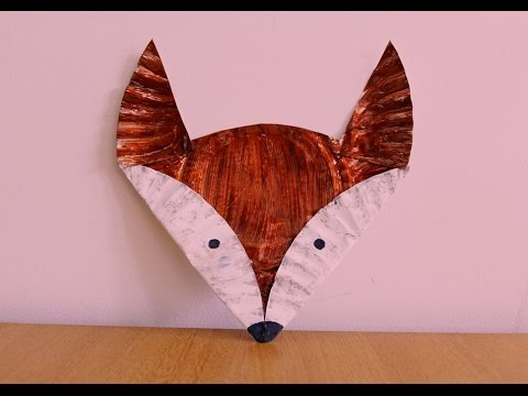 Paper Plate Fox Tutorial ~~ Kids Craft ~~ DIY ~ Step by Step Instructions ....