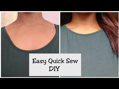 How to fix a low Neckline T-SHIRT
