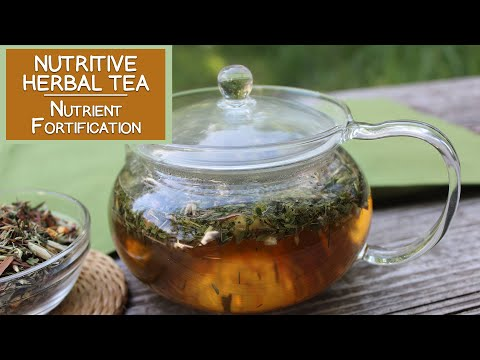 Nutritive Herbal Tea Infusions for Vitamin-Mineral Fortification