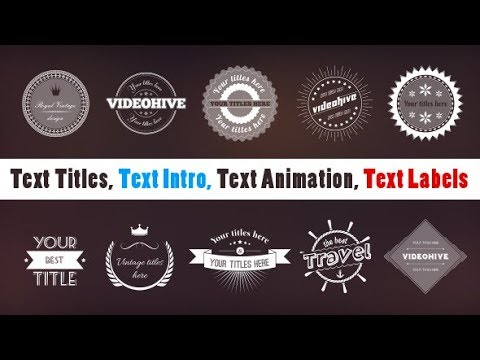 Easy Creating Text Titles | Text Intro | Text Animation | Text Labels