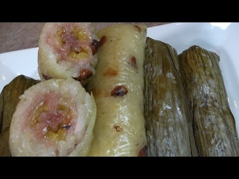 Sticky Rice Steamed with Banana (Ensom Chek Chem Hoy, Dessert)