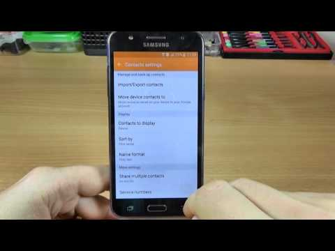 Samsung Galaxy J5 - How to Backup Contacts on your Account