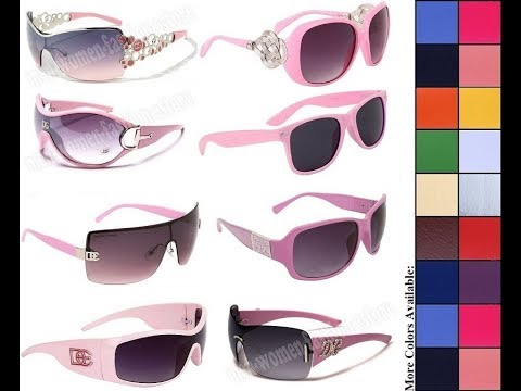 DE Fashion Designer Eyewear Women Ladies Girls Pink Sunglasses Low Cost Affordable Inexpensive Sale