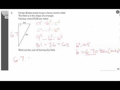 End of Unit Test - U20 Pythagoras Q2