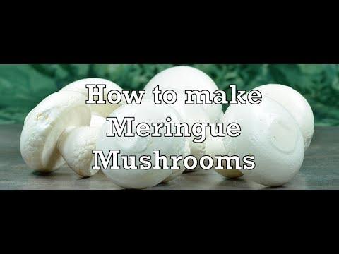 How to make meringue mushrooms - The Aubergine Chef HD