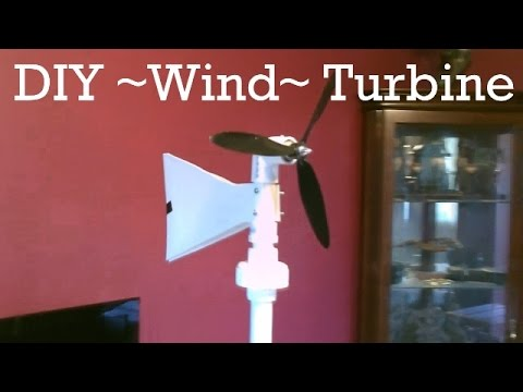 Homemade Wind Turbine Generator! - DIY (swivel-top) Wind Turbine! - Easy DIY - w/wind & power tests
