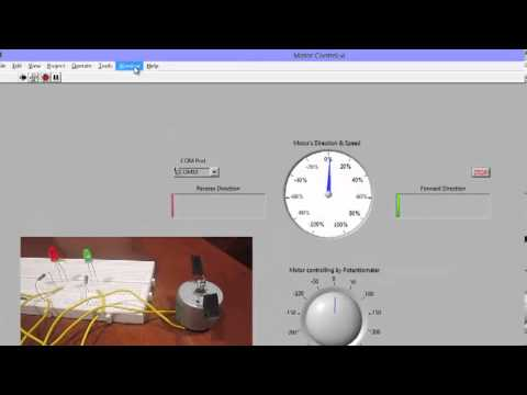 Labview Interfaced with Arduino: DC Motor Speed Control