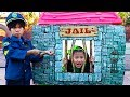 Download Emma Pretend Play as Cop LOCKED UP Jannie in Jail Playhouse Toy for Kids In Mp4 3Gp Full HD Video