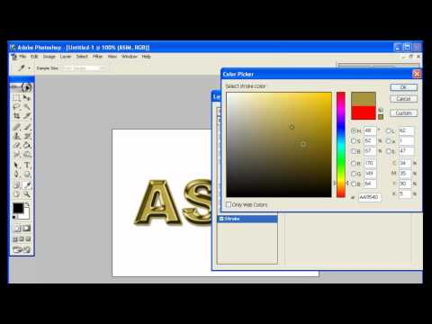 How to make gold effect in ADOBE PHOTOSHOP 7.0.mp4