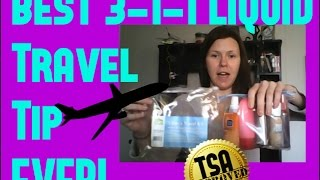 Best 3 1 1 Liquid Travel Tip For Carry On What S In My Carry On