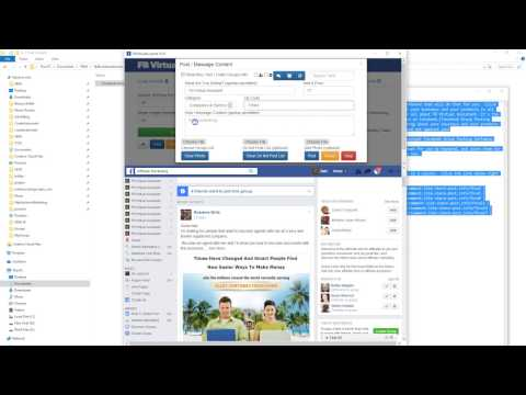 Facebook Groups Poster -Post to Open AND Closed Groups No App Required- Facebook Autoposter Software