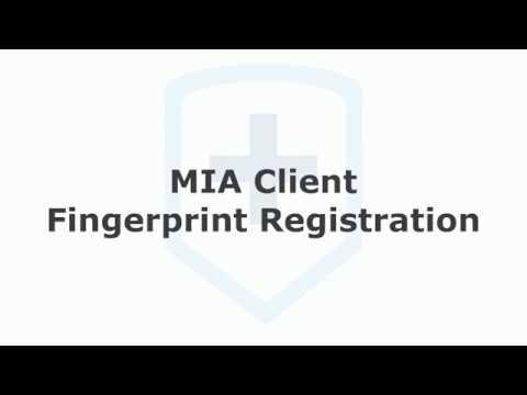 Isosec Virtual Smartcard: MIA Fingerprint Registration