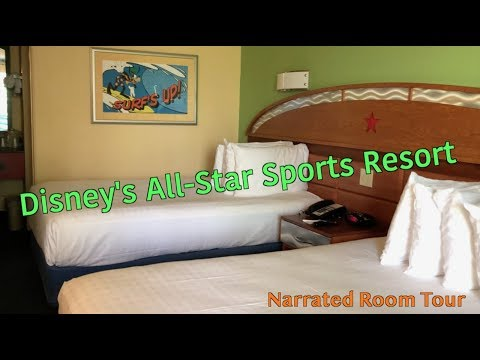Disney's All-Star Sports Resort: Narrated Room Tour