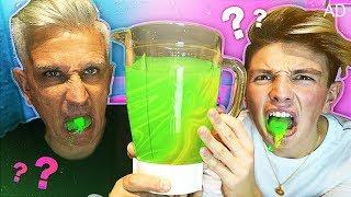 GROSSEST DRINK IN THE WORLD CHALLENGE!! (Gone Wrong) *Nasty Drink VS Dad*